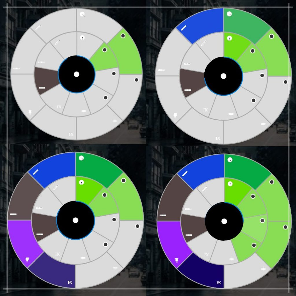 Picture of the intuitive vinyl music maker pad to easily make beats as a beginner