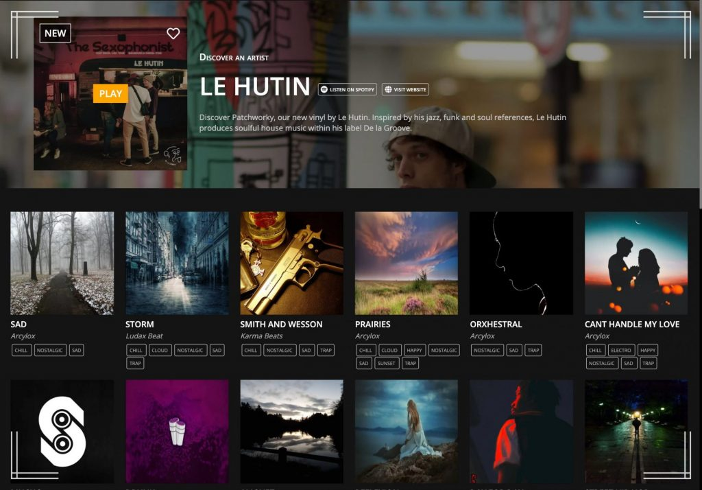 gallery of free packs of loops to make beats online